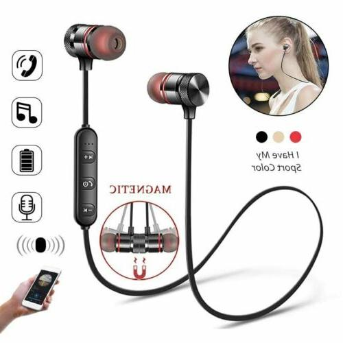 wireless bluetooth sport gym headphones earphones earbuds