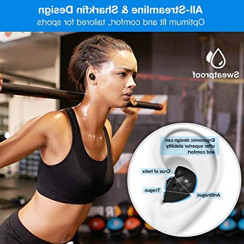 Wireless Airo True Bluetooth Earbuds with 36 Playtime Sound, Support with Sweatproof