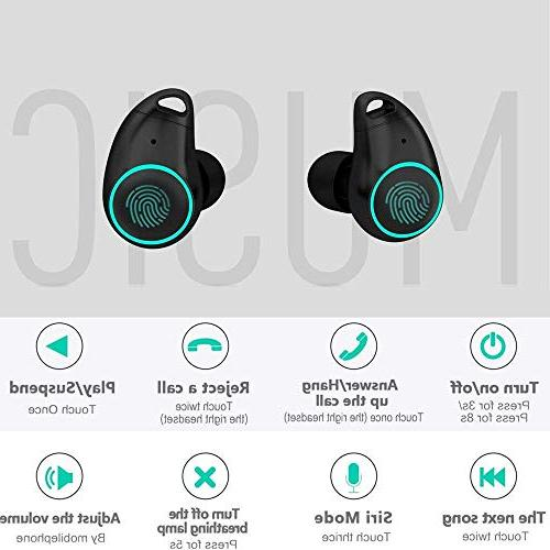 True Stereo Mini Headset Extra Bass Low 30H Charging Noise Earphones