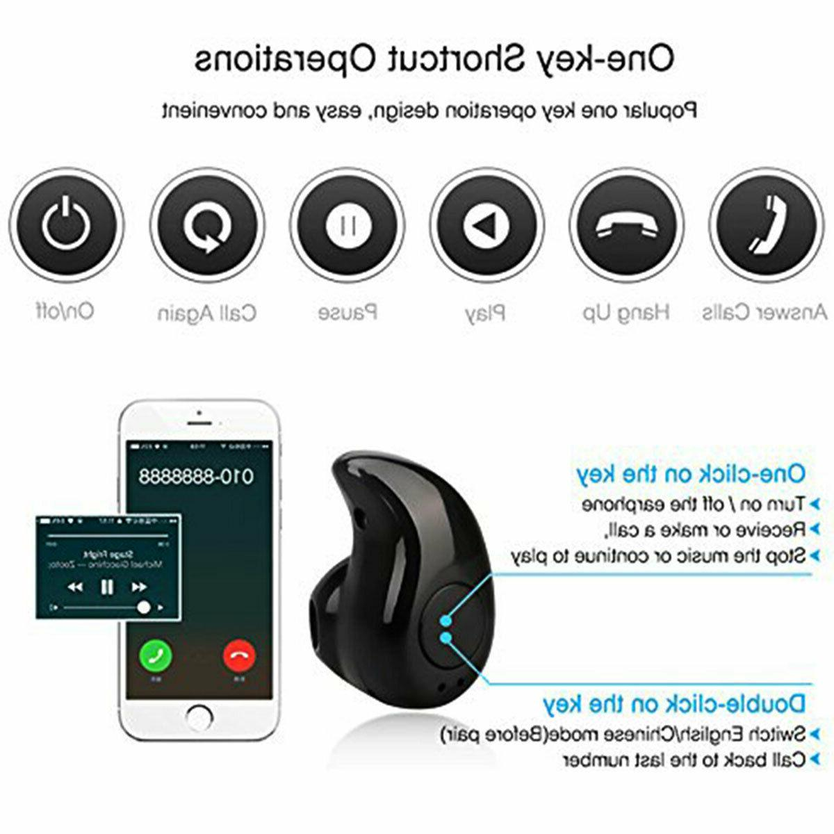 Wireless Earbuds Bluetooth with Mic For S10 S9 S8 Plus/iPhone