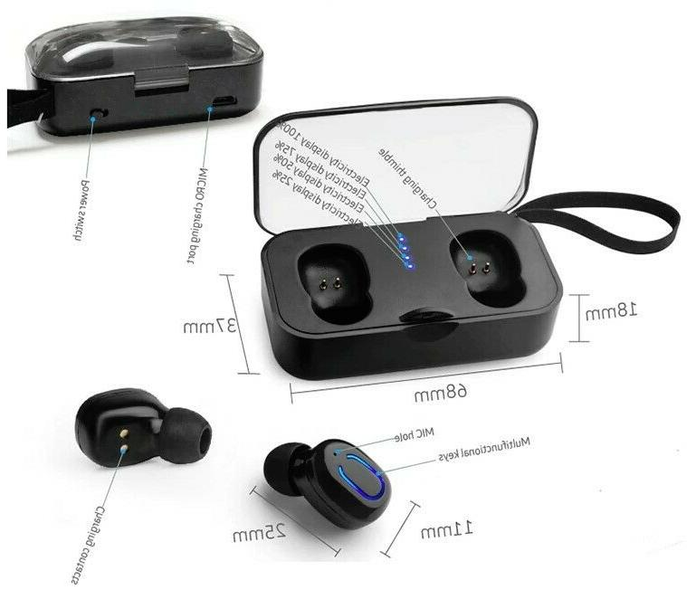 Dual Bluetooth Earbuds Android IOS Universal