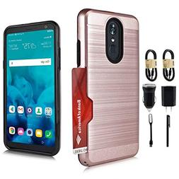 LG Stylo 4 Case, with  Dual Layer Shockproof Protective Cove