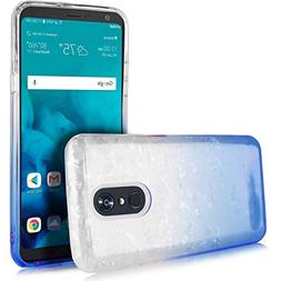 LG Stylo 4 Case, LG Q Stylo Case, Clear Gradient Glitter Spa