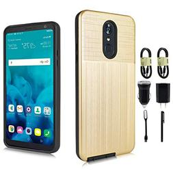 LG Stylo 4 Case, Brushed Texture Soft TPU Protective Cover F
