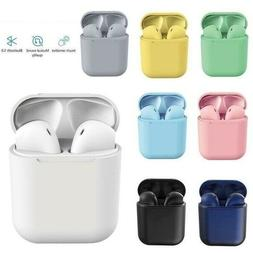 New Wireless Bluetooth Earbuds w/ Charging Case For iPhone A