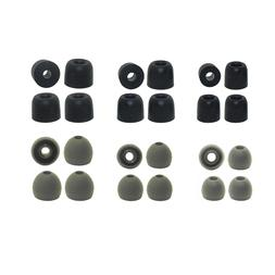 Replacement Earbud Tips Soundpeats - 6 pr. Silicone & 6 pr.