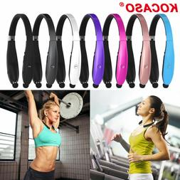 Foldable Bluetooth Headset Headphone Wireless Sport Neckband