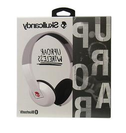 NEW Skullcandy UPROAR WIRELESS Bluetooth White Gray Headphon