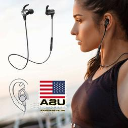 Waterproof Sport Bluetooth Headset Wireless Headphones In-Ea