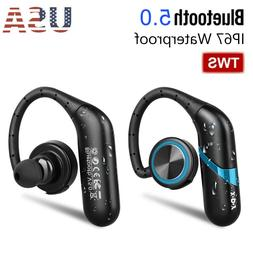 Waterproof Wireless Earbuds Bluetooth 5.0 Headphone Sports E