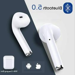 Mini Wireless Bluetooth Earphone Stereo Earbud Headset Headp