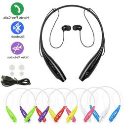 Wireless Bluetooth Handsfree mic Neck Earbuds Earphones head