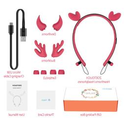 Wireless Bluetooth LED Deer Horn Headphones Earbud for Girls