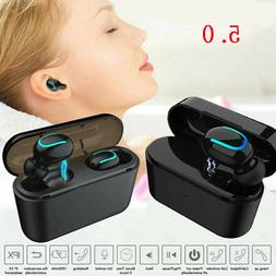 Wireless Earbud TWS Mini True 5.0 Stereo Earphone Bass In-Ea