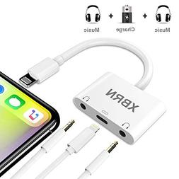 XBRN 3 in 1 Phone Headphone Adapter, 3.5 mm Headphone Jack A