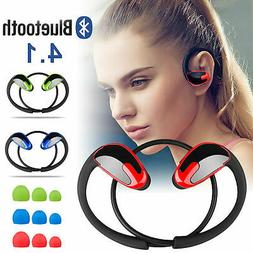 Wireless Stereo Bass Earbuds Bluetooth 4.1 Sweatproof Sport
